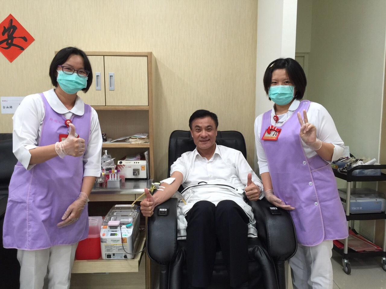 熱情屏東人~立法院蘇嘉全院長捐出熱血,呼籲鄉親定期捐血~