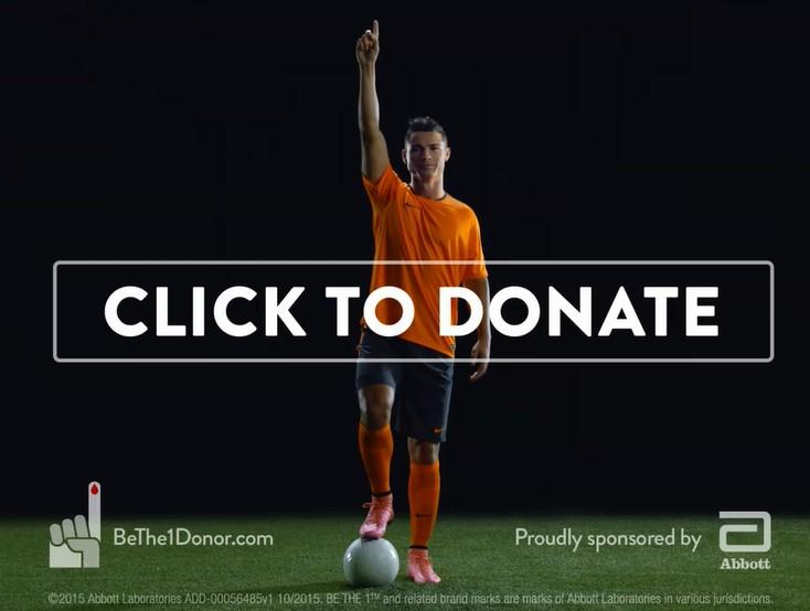 足球金童C羅呼籲捐血